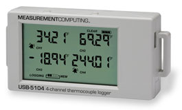 4 channel thermocouple recorder