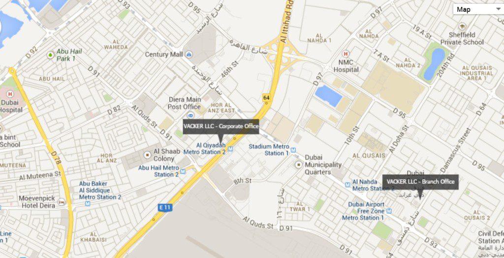 Dubai_corp office_map