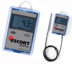 Dry ice temperature data logger