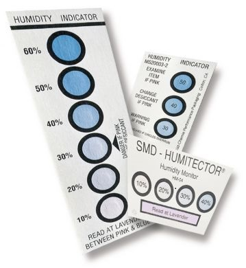 Humidity indicator card