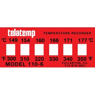 Temperature indicator label strip
