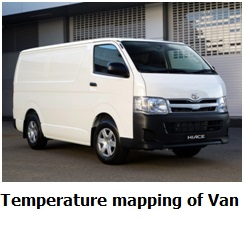 temperature mapping study of refrigerated medicine van