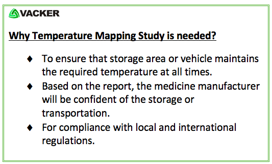Why temperature mapping study and qualification are needed